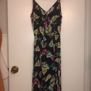 ONCE WORN Navy High Low Wedding Guest Dress